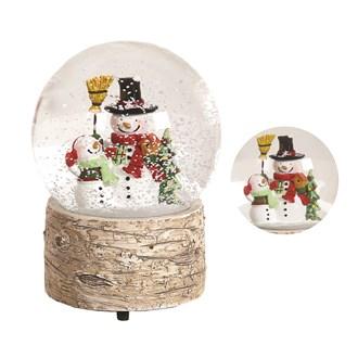 Musical Globe Snowmen 13cm