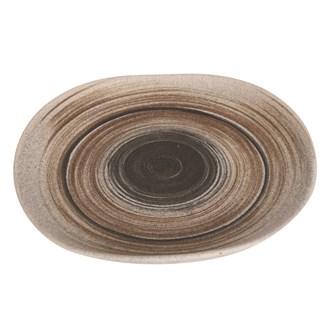 Natural Stripe Platter 25.5cm