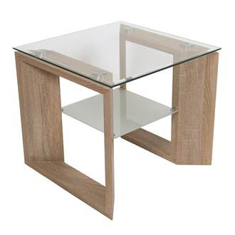 Oak Veneer Side Table/Shelf  55x55cm