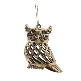 Owl Tree 9cm Gold