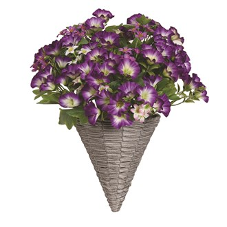 Petunia Wall Basket Purple (40*45cm)