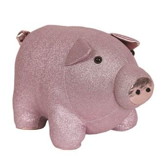 Pink Pig Doorstop 32x19cm