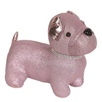 Pink Pug Doorstop 29x22cm