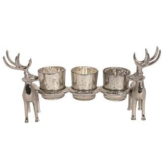 Reindeer 3 Tealight Holder 30.5cm