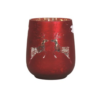 Reindeer Tealight Holder Red 12cm