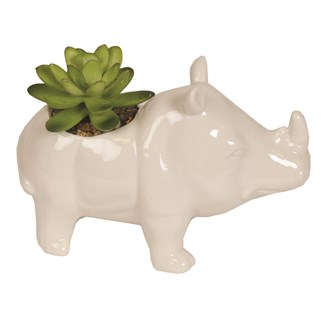 Artificial Succulent in Rhino Pot 11cm
