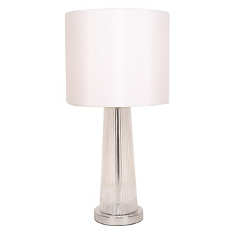 Rippled Glass Table Lamp 64cm