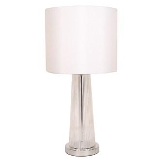Rippled Glass Table Lamp 64cm