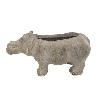 Rustic Hippopotamus Planter 47x24cm