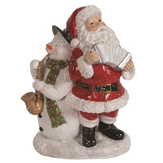 Santa & Snowman Decor 23cm
