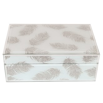 Silver Feather Jewellery Box 21cm