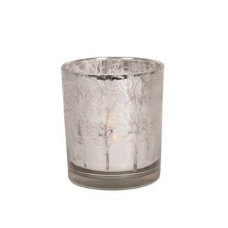 Silver Tree Tealight Holder 10cm
