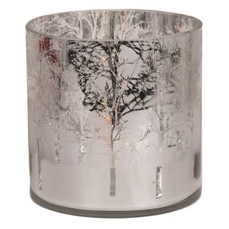 Silver Tree Tealight Holder 15cm