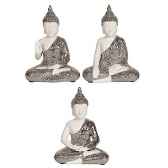 Sitting Buddha 15.5cm 3 Asst