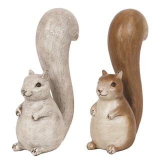 Sitting Squirrel 20cm 2 Assorted