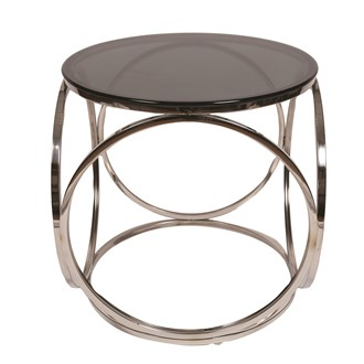 Smoked Glass Side Table 50x52cm