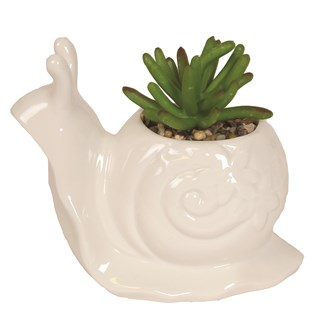 Artificial Succulent in Snail Pot 12cm