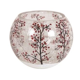 Snow Berry Globe Tealight Holder 8cm