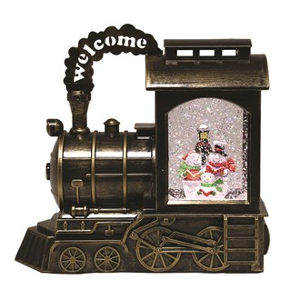 Snowman Train Water Spinner