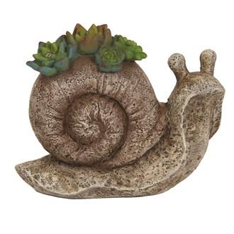Solar Powered Decorative Garden Snail 17.5cm