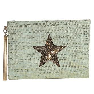 Star Cosmetic Bag Teal 20x28cm