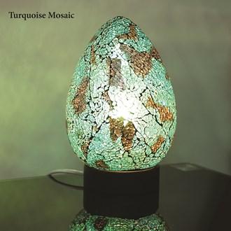 Turqouise Mosaic Egg Lamp 25cm