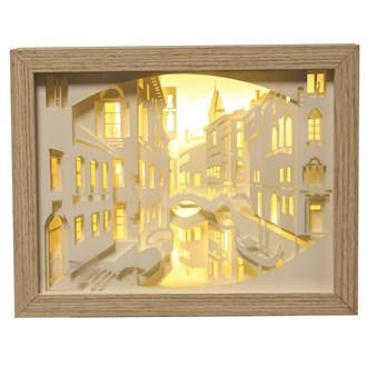 Venice Light Up Box 23.5 x 18cm