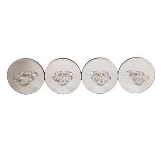 Wall Silver Mirror Tea Light Holder  48.5cm