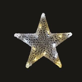 Warm White & Twinkle LED Star 40cm