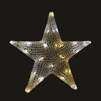 Warm White & Twinkle LED Star 58cm