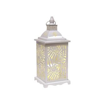 White Leaf LED Lantern 34cm