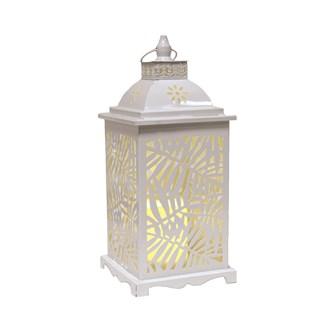 White Leaf LED Lantern 39cm