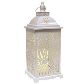 White Leaf LED Lantern 48.5cm
