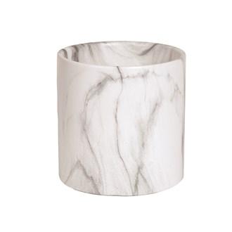 White Marble Planter 15x15cm