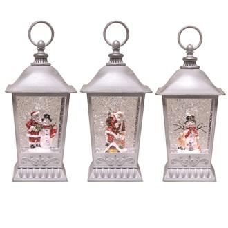 White Lantern Spinner 25cm 3 Assorted