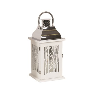 Wooden Decorative White Lantern  33.5cm