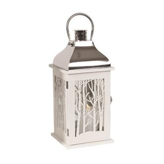 Wooden Decorative White Lantern  38cm