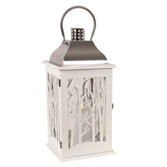 Wooden Decorative White Lantern  43.5cm