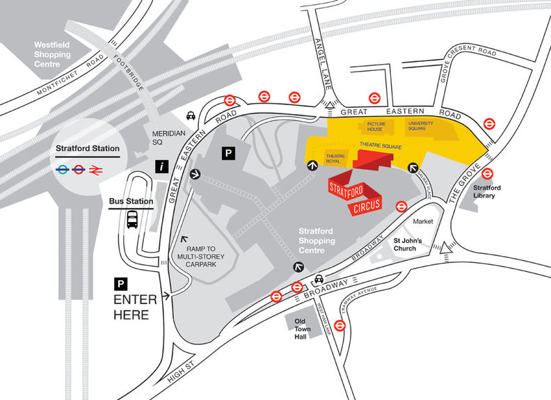 Westfield Stratford Map How to find us   Stratford Circus Westfield Stratford Map