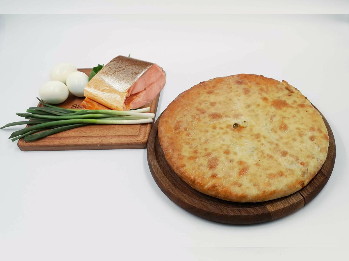 осетинский пирог многослойный с фото бронзовых плитах