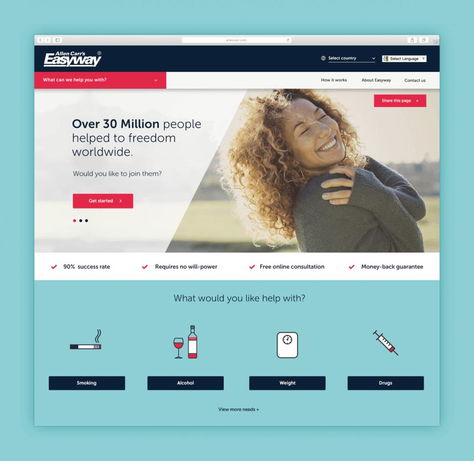 Allen Carr's Easyway homepage