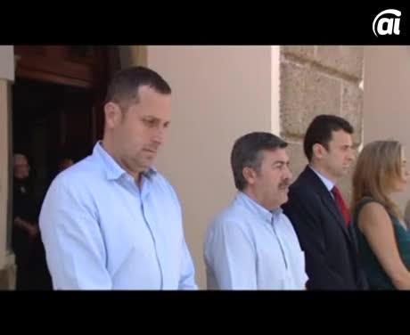 Minuto de silencio por la muerte de Isabel Carrasco, presidenta de la Diputación de León