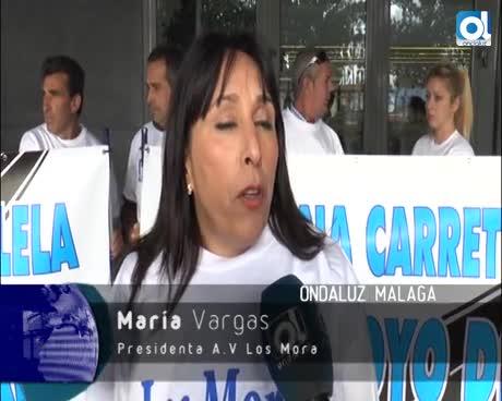Vecinos de Almogía esperan desde hace años que Málaga arregle un kilómetro de carretera