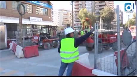 El avance de las obras del metro sigue paralizado en el Guadalmedina