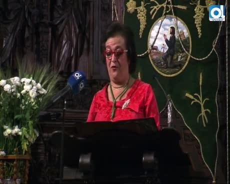 María Márquez pregonó a San Isidro entre recuerdos familiares en una exaltación de la vida mayeta