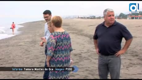 El PSOE reclama un plan de mejora de la playa de Guadalmar de Málaga
