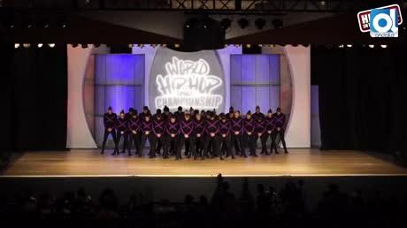 Grupo de baile chiclanero en el campeonato mundial de Hip Hop