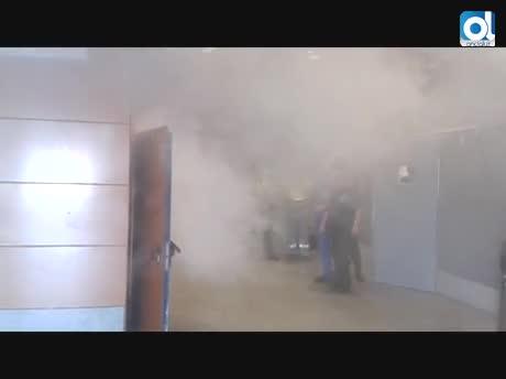 Bomberos realiza un simulacro en la Estación Marítima de Algeciras