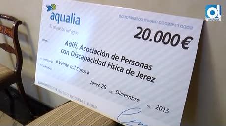 Aquajerez colabora con la Asociación de Personas con Discapacidad Física Adifi- Jerez