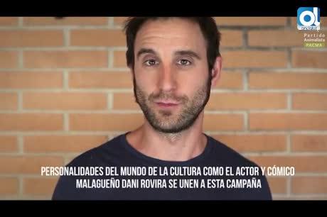 El malagueño Dani Rovira se une a la campaña para abolir los toros